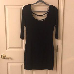 Soprano Navy Blue Bodycon Dress w/ Braided Back